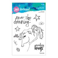 Spellbinders - Whimsical and Wild Collection - Clear Acrylic Stamps - Horse Hug