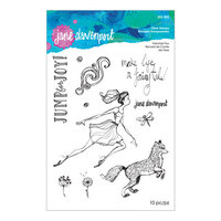 Spellbinders - Whimsical and Wild Collection - Clear Acrylic Stamps - Fairytale Fox