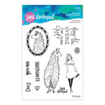 Spellbinders - Whimsical and Wild Collection - Clear Acrylic Stamps - Llama Drama