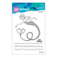 Spellbinders - Stamp Camp Collection - Clear Acrylic Stamps - Glorious Mermaid