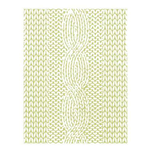 Spellbinders - Lumberjack Days Collection - Embossing Folder - Knitted Pattern