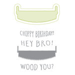 Spellbinders - Lumberjack Days Collection - Die and Clear Acrylic Stamp Set - Hey Bro