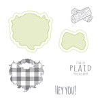 Spellbinders - Lumberjack Days Collection - Die and Clear Acrylic Stamp Set - So Plaid