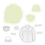 Spellbinders - Lumberjack Days Collection - Die and Clear Acrylic Stamp Set - Plaid Shirt