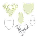Spellbinders - Lumberjack Days Collection - Die and Clear Acrylic Stamp Set - Deer Head