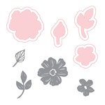 Spellbinders - Make Amazing Happen Collection - Die and Clear Acrylic Stamp Set - Amazing Blooms