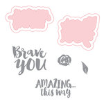 Spellbinders - Make Amazing Happen Collection - Die and Clear Acrylic Stamp Set - Brave You
