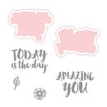 Spellbinders - Make Amazing Happen Collection - Die and Clear Acrylic Stamp Set - Amazing You