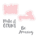 Spellbinders - Make Amazing Happen Collection - Die and Clear Acrylic Stamp Set - Be Amazing