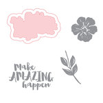 Spellbinders - Make Amazing Happen Collection - Die and Clear Acrylic Stamp Set - Make Amazing Happen