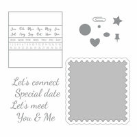 Spellbinders - Noteworthy Collection - Die and Clear Acrylic Stamp Set - Let's Meet