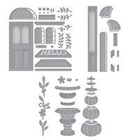 Spellbinders - Open House Collection - Etched Dies - Open House Door Base, Door Side Panel and Pumpkin Topiary Bundle