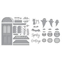 Spellbinders - Open House Collection - Etched Dies - Halloween - Open House Door Base and Boo! Bundle