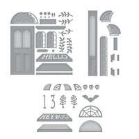 Spellbinders - Open House Collection - Etched Dies - Open House Door Base, Door Side Panel and Halloween Bundle