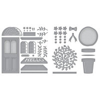 Spellbinders - Open House Collection - Etched Dies - Open House Door Base and Topiary Bundle