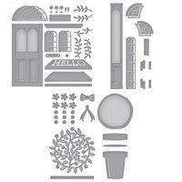 Spellbinders - Open House Collection - Etched Dies - Open House Door Base, Door Side Panel and Topiary Bundle
