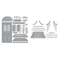 Spellbinders - Open House Collection - Etched Dies - Open House Door Base and Sentiment Steps Bundle