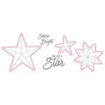 Spellbinders - Origami Love Collection - Die and Clear Acrylic Stamp Set - Shine Bright