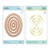 Spellbinders - Glimmer Hot Foil - Duo Lines Glimmer Plates and Etched Dies - Essential Ovals