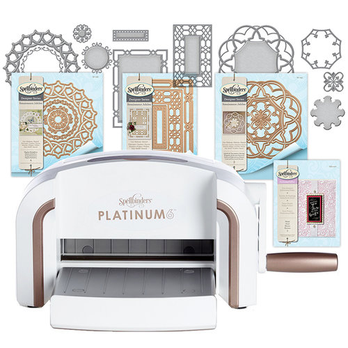 Spellbinders - Platinum 6 Machine with Dies and Embossing Folder - Complete Bundle