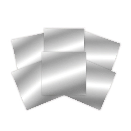 Spellbinders - 6 x 6 Silver Craft Metal Sheets - Platinum Pack 2