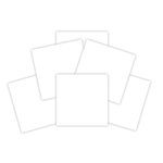 Spellbinders - 6 x 6 White Mat Board Sheets - Platinum Pack 4