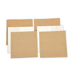 Spellbinders - 6 x 6 Cork, Corrugated Cardboard and Balsa Wood Sheets - Platinum Pack 5