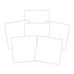 Spellbinders - 6 x 6 White Adhesive Sheets - Platinum Pack 6