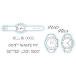 Spellbinders - Richard Garay Days Collection - Die and Clear Acrylic Stamp Set - Time Flies