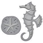 Spellbinders - D-Lites Die - Seahorse and Sand Dollar