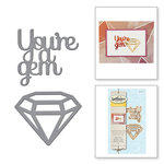 Spellbinders - D-Lites Die - You're a Gem