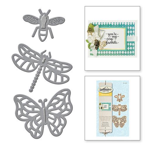 Spellbinders - D-Lites Die - Flying Bugs