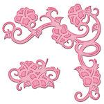 Spellbinders - Shapeabilities Collection - D-Lites Die - Hibiscus Corner