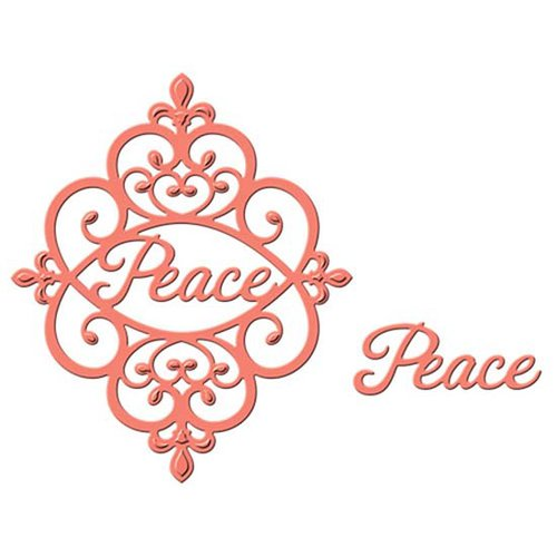 Spellbinders - Holiday Collection - D-Lites Die - Peace Sentiment