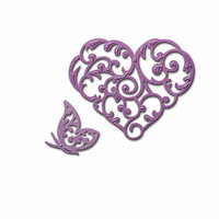 Spellbinders - Shapeabilities Collection - D-Lites Die - Heart and Flutter