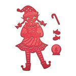 Spellbinders - Holiday Collection - D-Lites Die - Elf - Girl