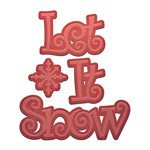 Spellbinders - Holiday Collection - D-Lites Die - Let It Snow