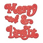 Spellbinders - Holiday Collection - D-Lites Die - Merry and Bright