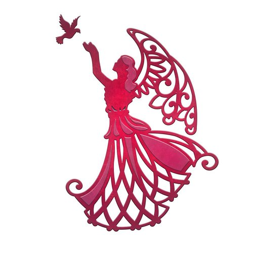 Spellbinders - Holiday Collection - D-Lites Die - Angel of Peace
