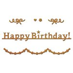 Spellbinders - D-Lites Die - Happy Birthday Garland