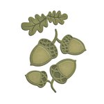 Spellbinders - Shapeabilities Collection - D-Lites Die - Acorns