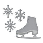 Spellbinders - Holiday Collection - Christmas - D-Lites Die - Flakes 'n Skates