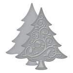 Spellbinders - Holiday Collection - Christmas - D-Lites Die - Fancy Tree