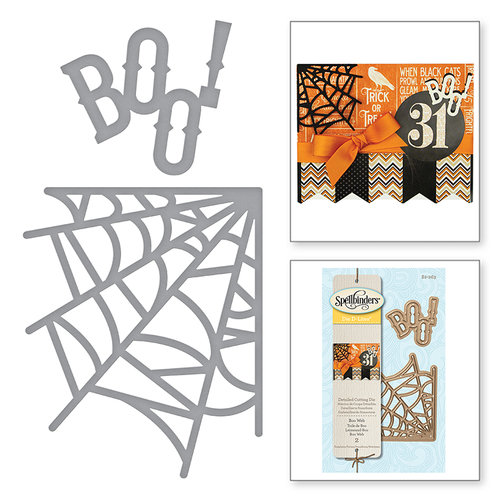 Spellbinders - Holiday Collection - Halloween - D-Lites Die - Boo Web