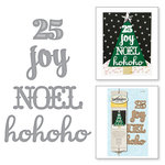 Spellbinders - Holiday Collection - Christmas - D-Lites Die - Ho Ho Ho