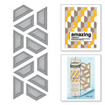 Spellbinders - Quilt-It Collection - D-Lites Die - Half Hex