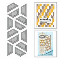 Spellbinders - Quilt-It Collection - D-Lites Die - Half Hex