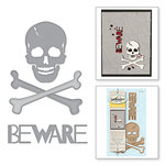 Spellbinders - Holiday Collection - Halloween - D-Lites Die - Skull n' Crossbones