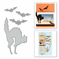 Spellbinders - Holiday Collection - Halloween - D-Lites Die - Cats 'n Bats