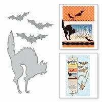 Spellbinders - Holiday Collection - Halloween - D-Lites Die - Cats 'n Bats